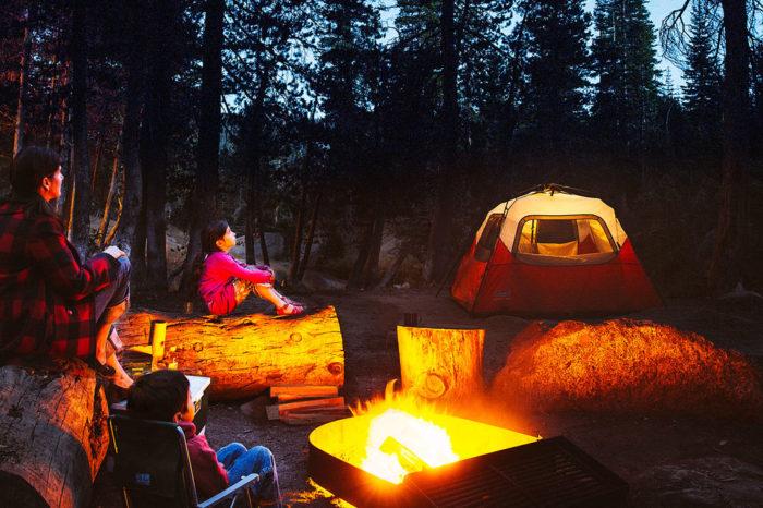 Camping en las montañas Bucay